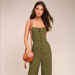 c98fa2a047cb4 ... BEACH DAY OLIVE GREEN BACKLESS JUMPSUIT ...